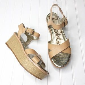 Sam Edelman Platform Sandal   Size 8